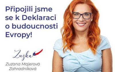 """Za Českou republiku je prvním signatářem """"Deklarace obudoucnosti Evropy"""" formace Trikolora Svobodní Soukromníci"""